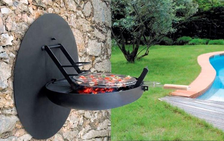 esempio barbecue a legna da parete