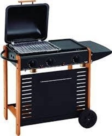 Un barbecue in pietra lavica