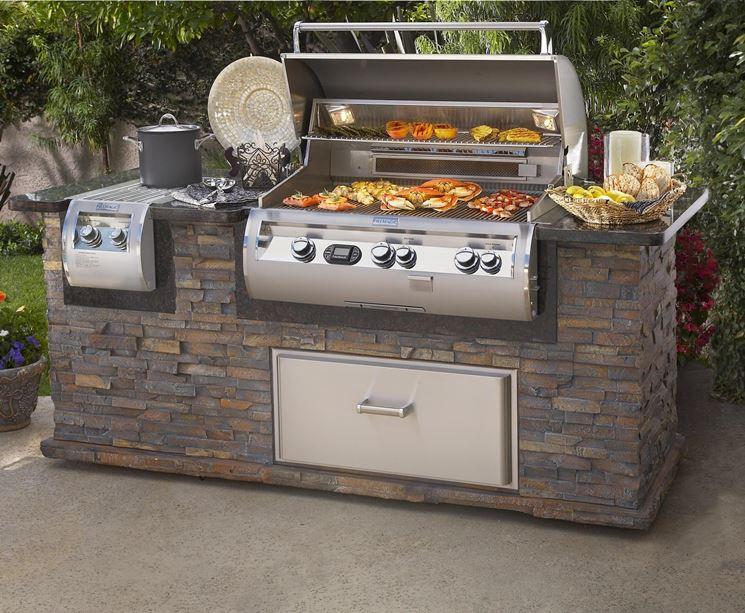 Cappa barbecue barbecue - Barbecue esterno ...