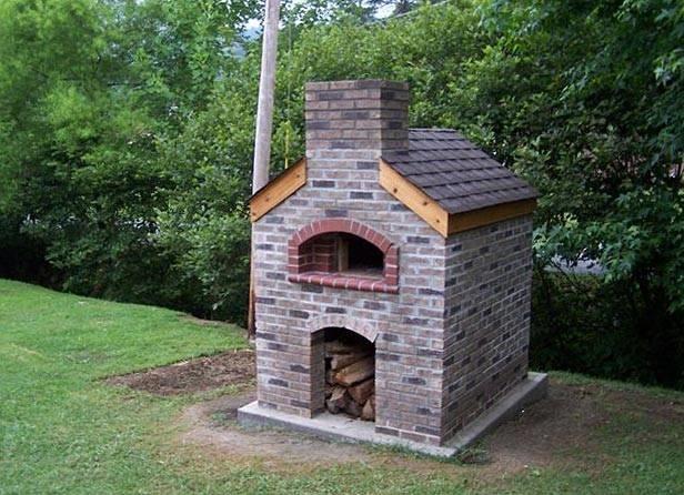 Casa moderna roma italy forno in muratura da giardino - Barbecue e forno in muratura da giardino ...