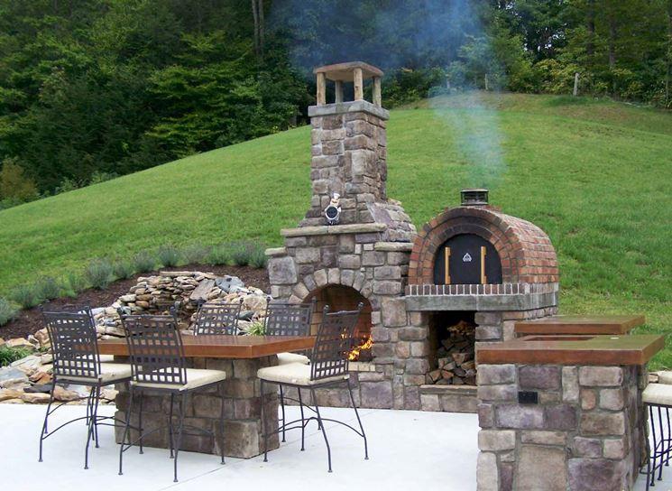 Forno a legna da giardino barbecue forno a legna per - Bbq da giardino ...