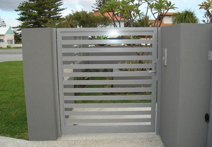 Cancello Esterno Moderno : Cancelli in alluminio cancelli modelli di cancelli in alluminio