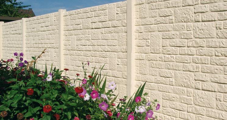 recinzione in cemento stampato
