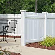 recinzione in pvc bianca