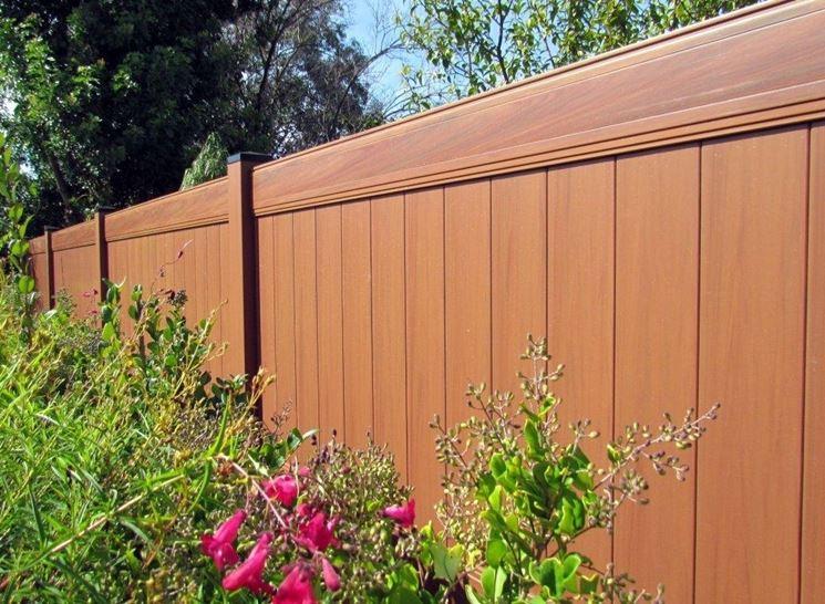 recinzione in pvc wood