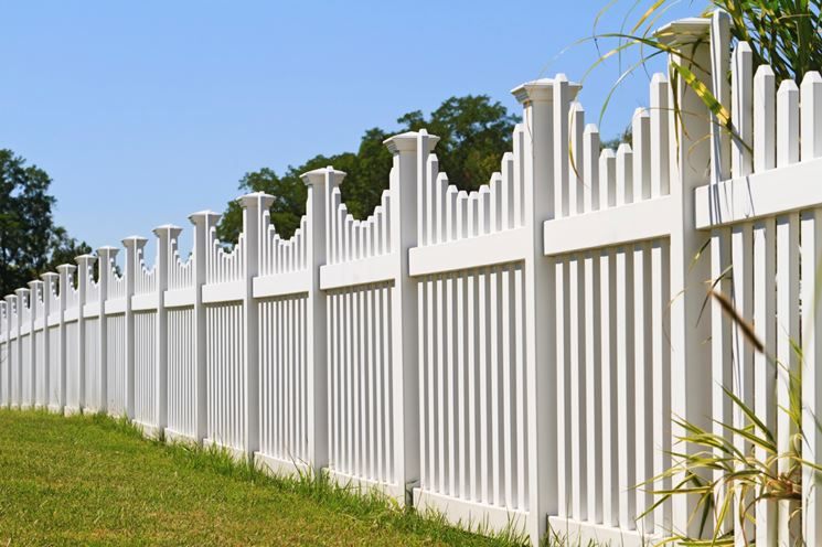 recinzione bianca