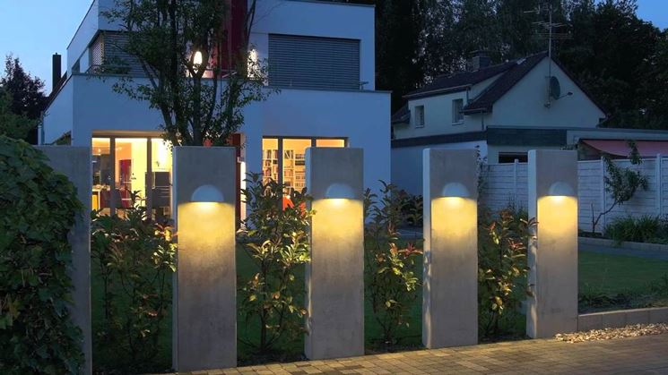 Plafoniere Moderne Da Esterno : Lampade da esterno illuminazione giardino per ambienti