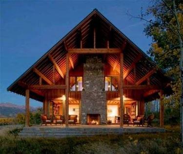 Chalet in legno casette da giardino for Log cabin plans texas
