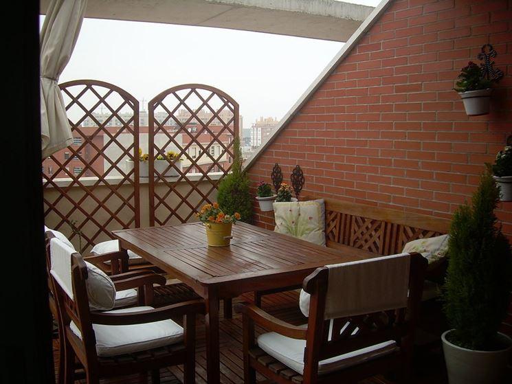 Grigliati in legno per terrazzo - Grigliati per giardino - Grigliati in legno per il terrazzo