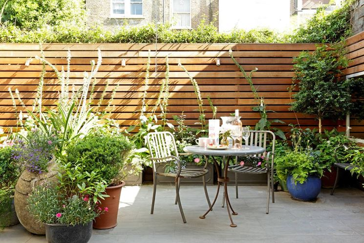 Grigliati in legno per terrazzo