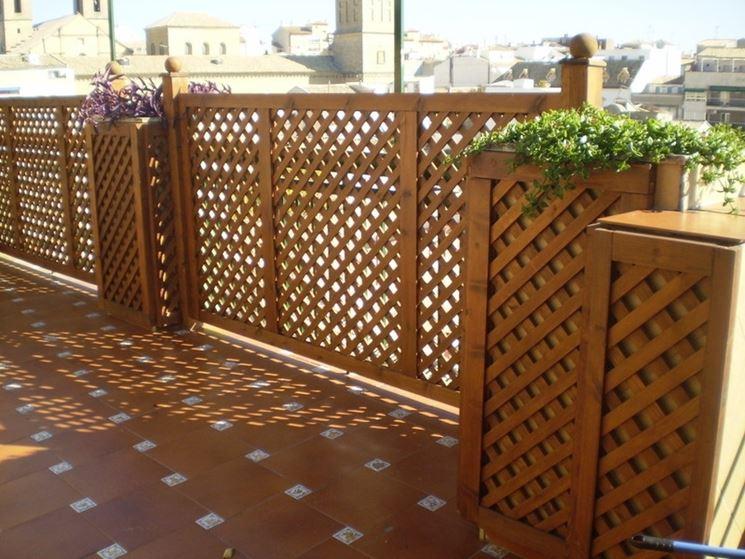 Grigliati in legno per terrazzo grigliati per giardino - Celosias de madera leroy merlin ...