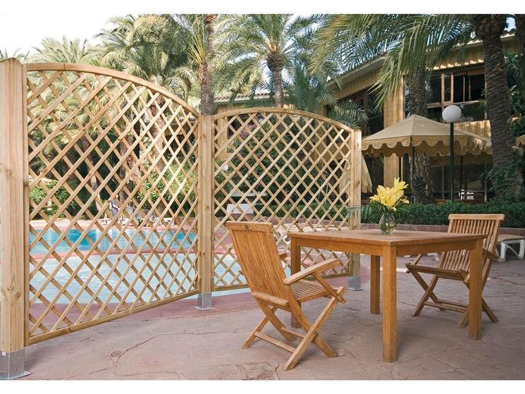 Grigliati in legno grigliati per giardino grigliate in - Paneles madera jardin ...