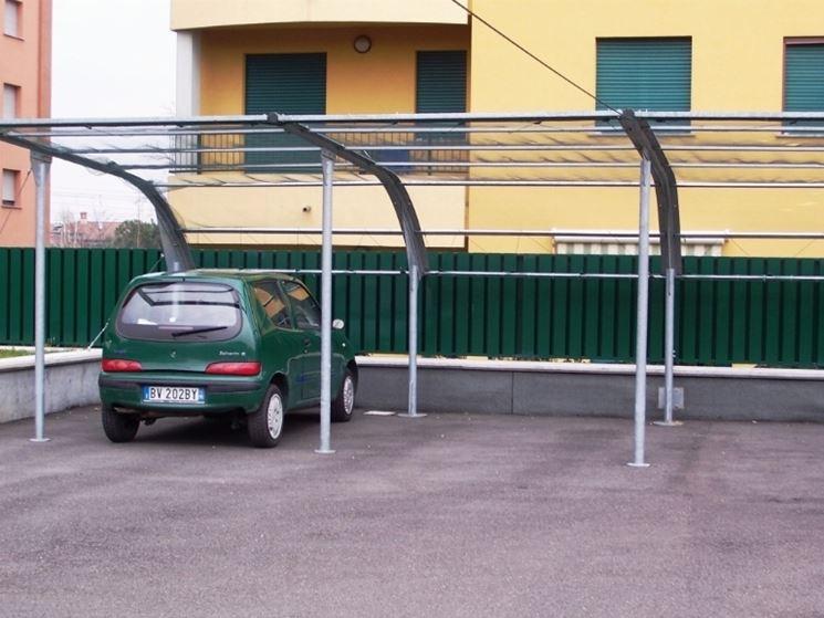 Coperture per auto tettoie da giardino - Tettoie da giardino in ferro ...