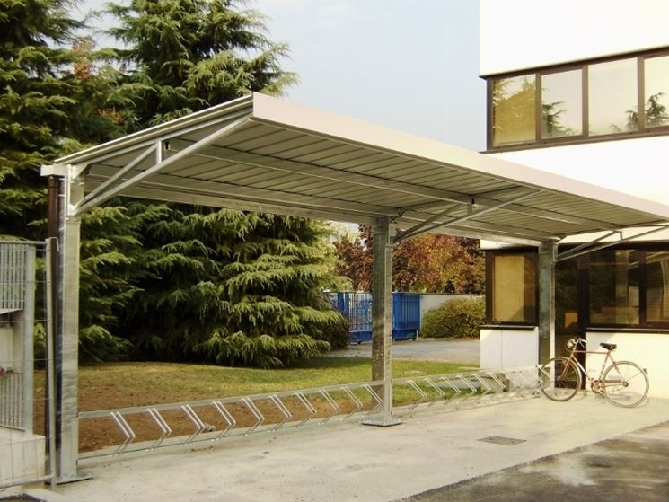 Tettoie in acciaio tettoie da giardino - Tettoie da giardino in ferro ...