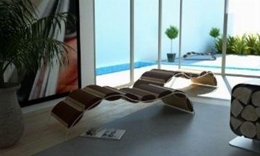 chaise longue da giardino moderna
