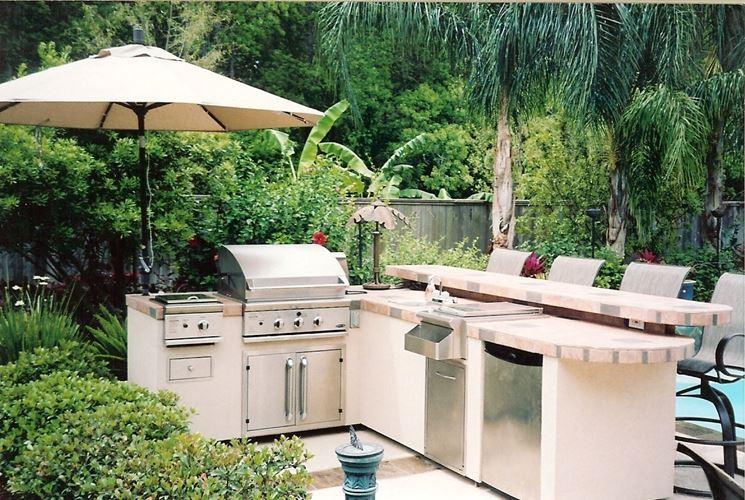 esempio di cucina in giardino