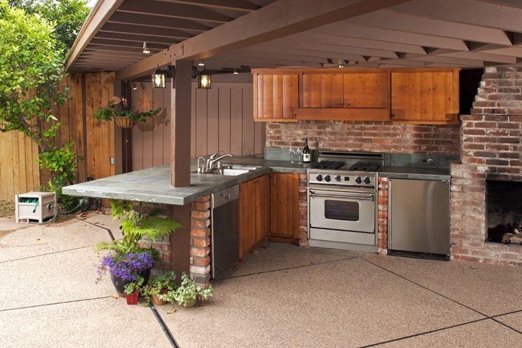Cucina da giardino mobili giardino la cucina più
