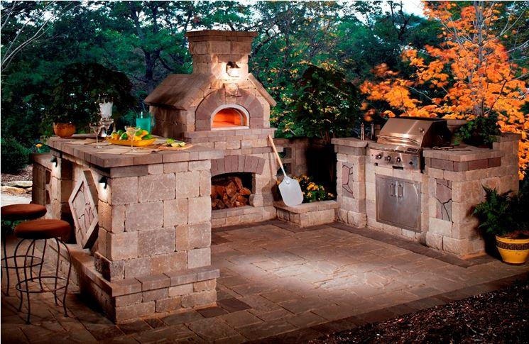 esempio cucina esterna