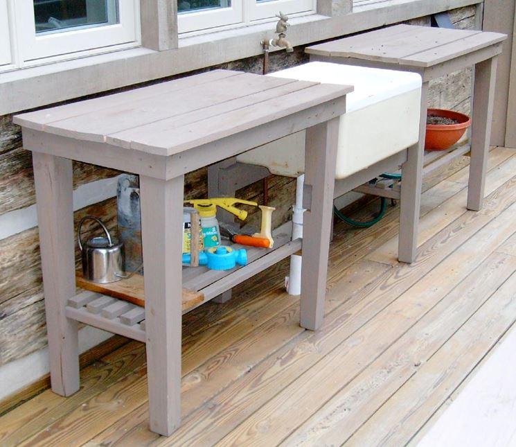 Lavelli giardino mobili giardino lavelli per il giardino - Cucina da esterno ...