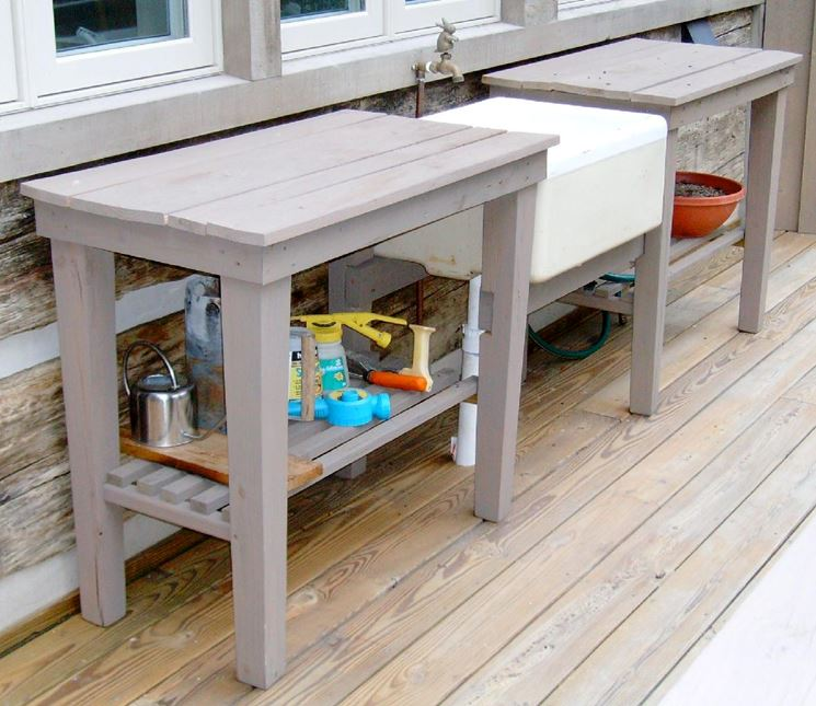 Lavelli giardino mobili giardino lavelli per il giardino - Cucina da giardino ...