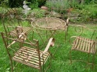 Mobili da giardino in ferro battuto mobili giardino - Set da giardino ferro battuto ...