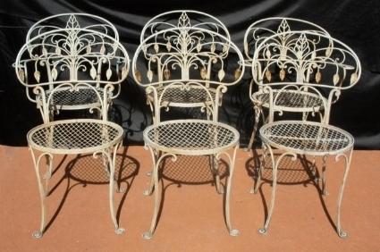 sedie da giardino in ferro battuto - sedie per giardino