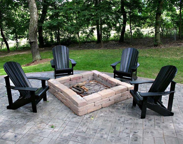 sedie da giardino in resina