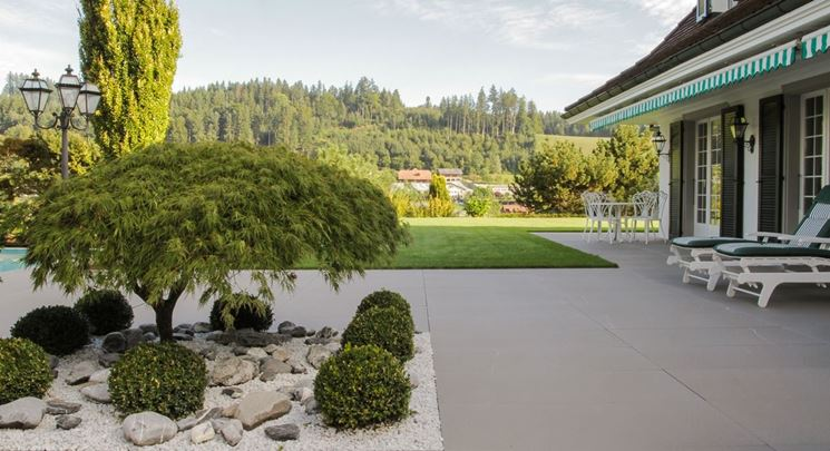 Giardino pavimentazione elementi progettazione giardini pavimentazione per il giardino - Pavimentazione giardino in legno ...