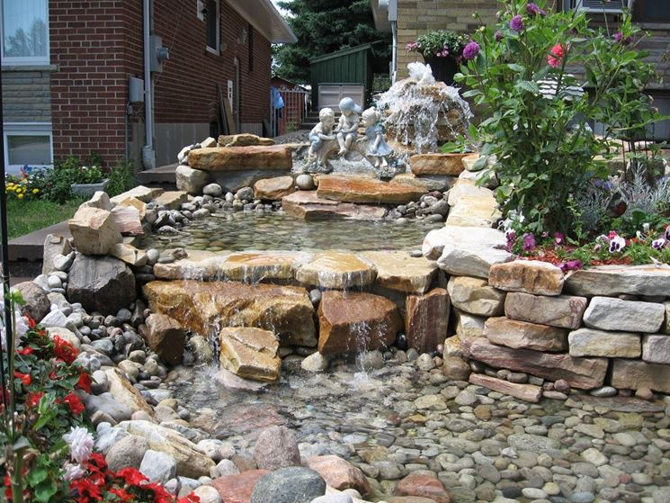 cascata in pietra