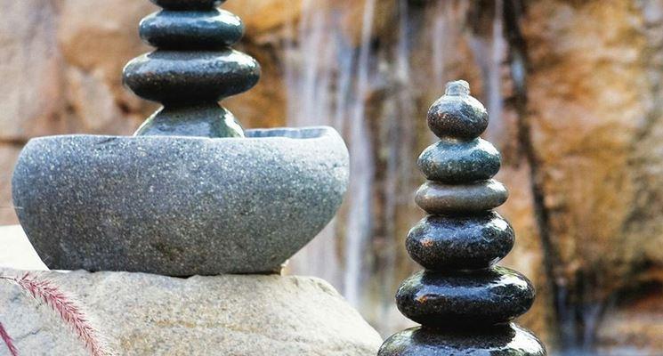 fontana zen in pietra