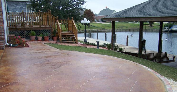 pavimenti in cemento colorato